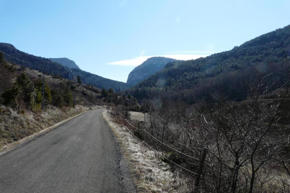 la route vers les gorges de Galamus