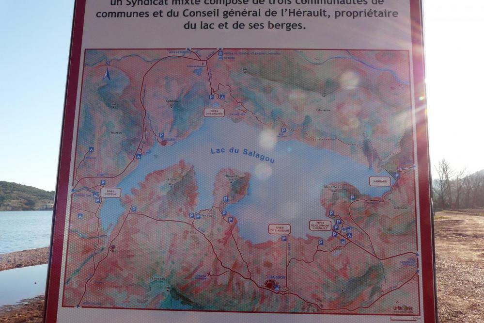 plan du lac du Salagou
