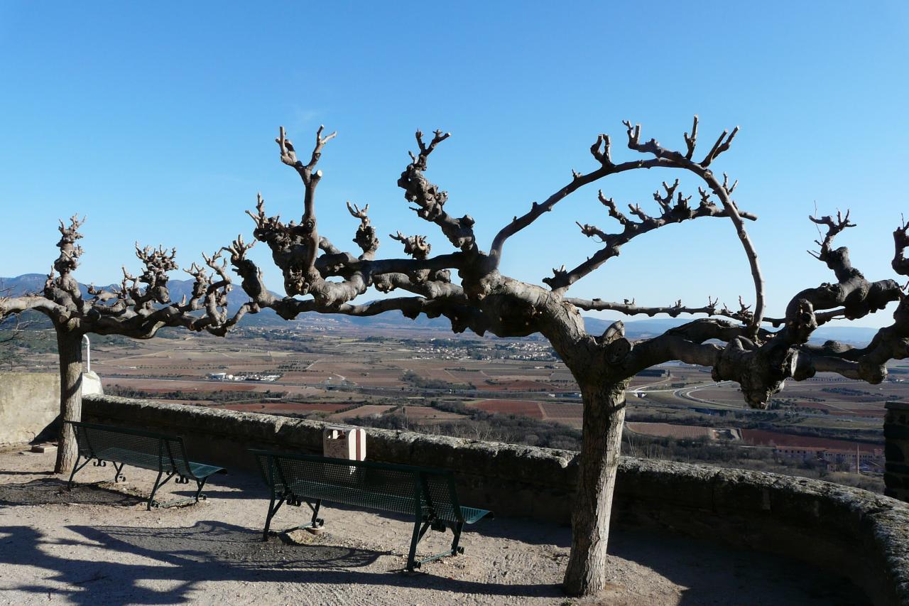 Superbe vue depuis le village de Lacoste (Salagou-Hérault)