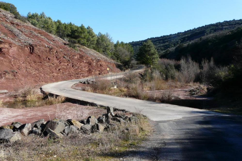 la remontée après le barrage vers Mas Audran
