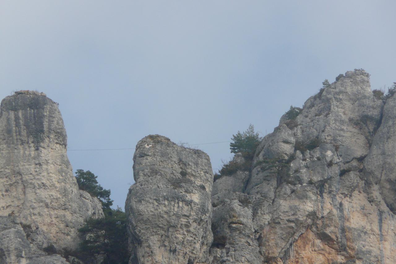 la tyrolienne de Liaucous vue du chemin de retour