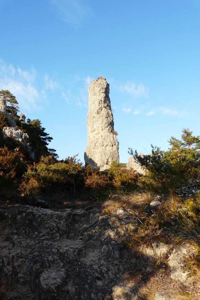 Chaos de Montpellier le vieux : la colonne