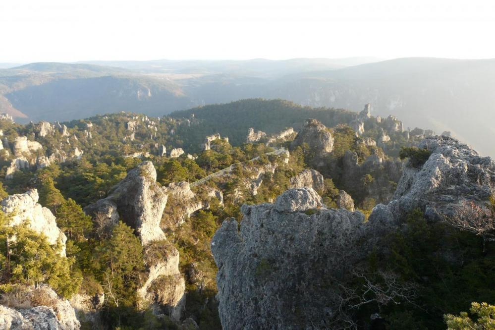 Vue du haut du Douminial ( chaos de Montpellier le vieux)
