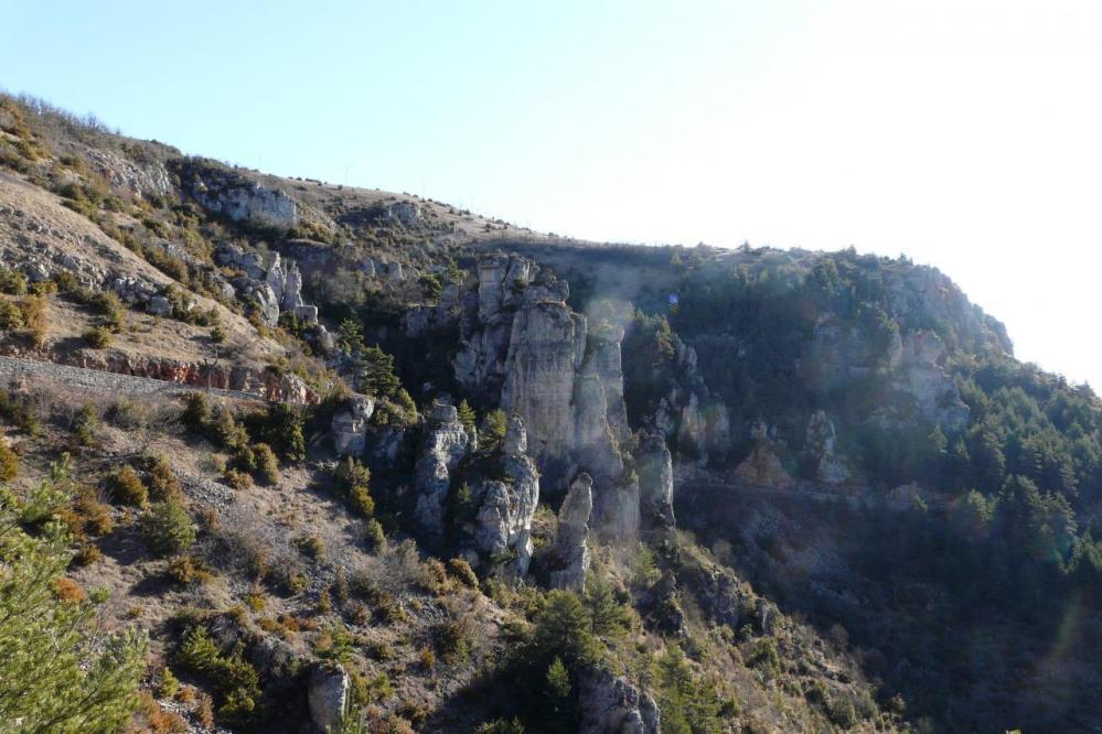 les rochers de Bouilhères à Meyrueis