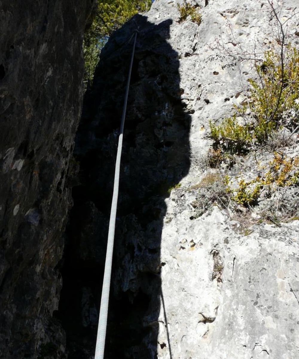 la cordata du roc de bouilhères à Meyrueis