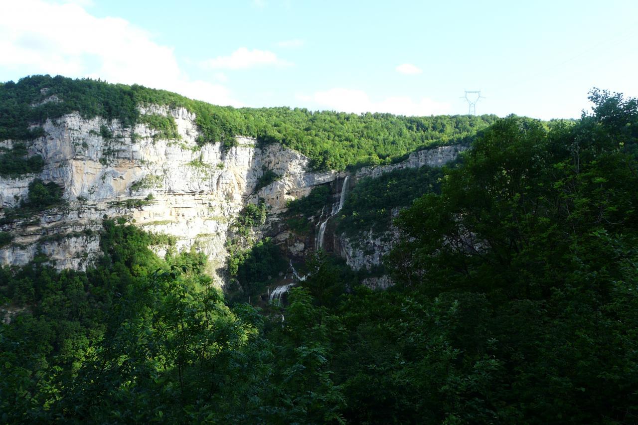 le site de la cascade de la Charabotte