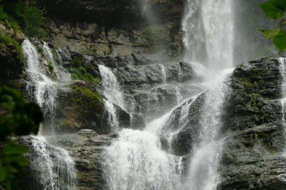 Les chutes de la cascade de la Charabotte