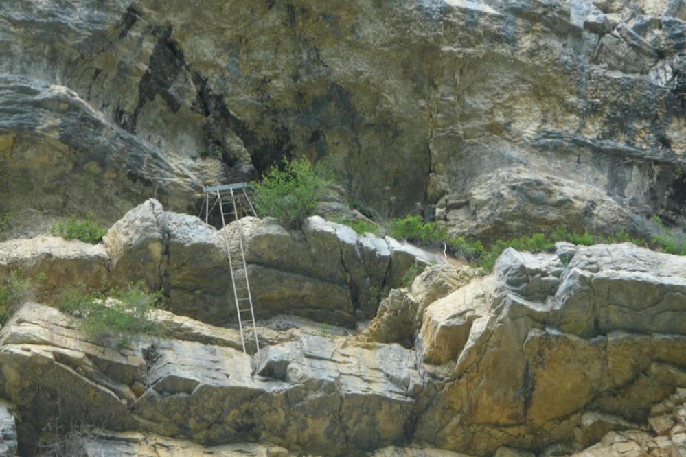 L' échelle de la via ferrata de la Charabotte