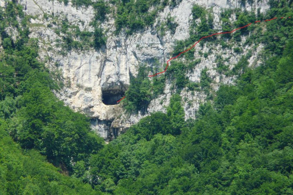 l'itineraire de la via corda à la grotte de la Doria