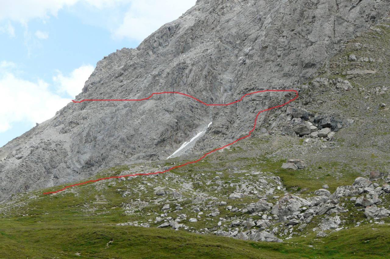 itineraire de la via de la pointe de Charra