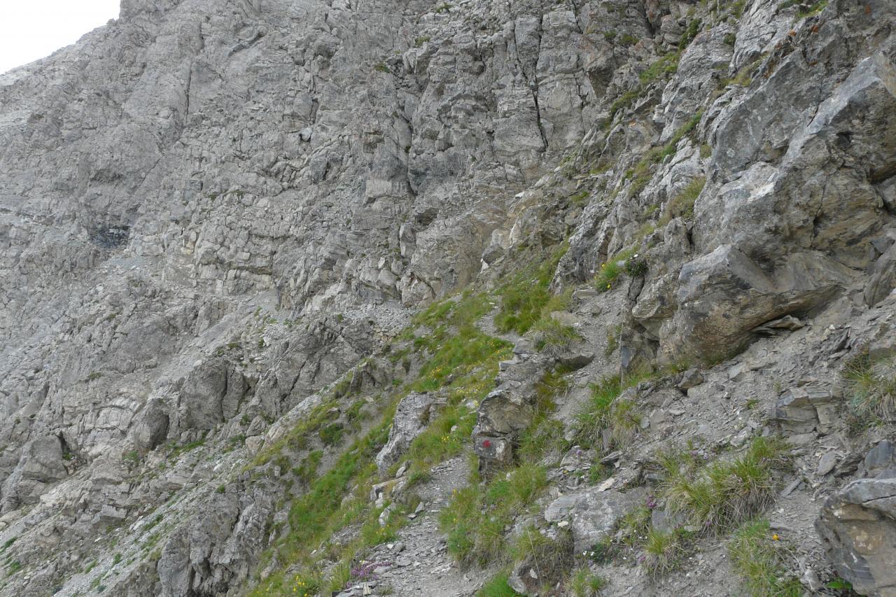 le début du chemin câblé (pointe de Charra)