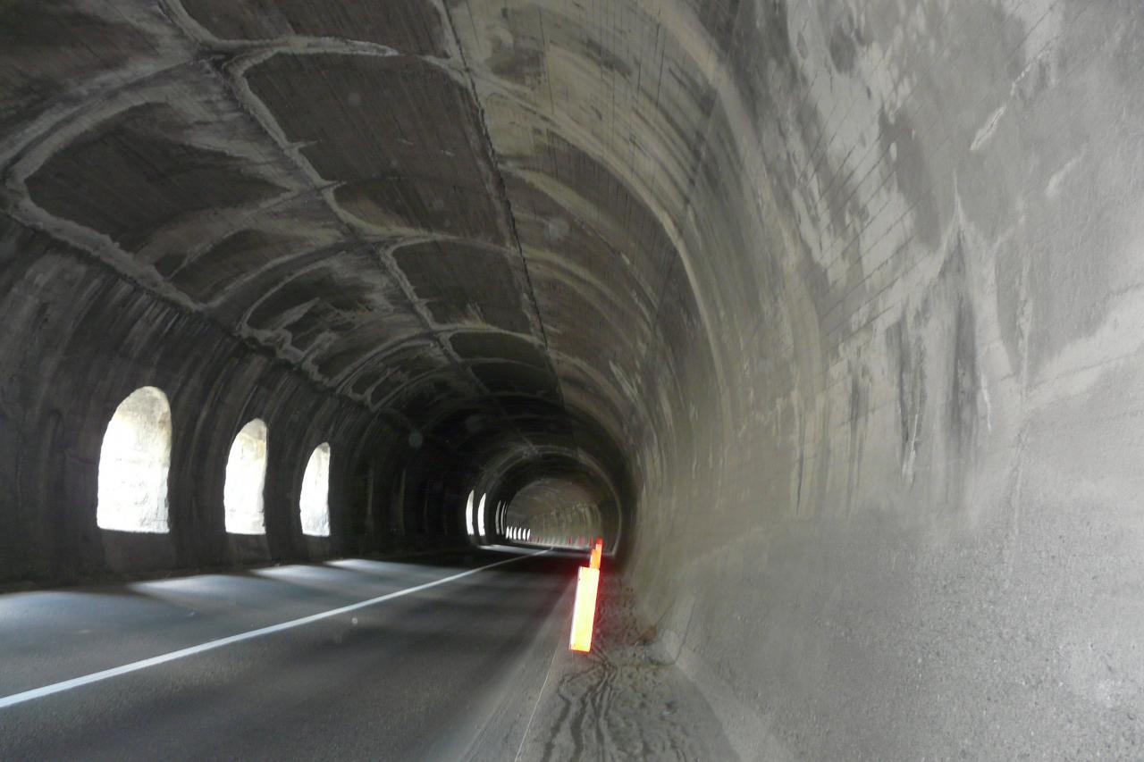 un des tunnels du col de Montgenèvre