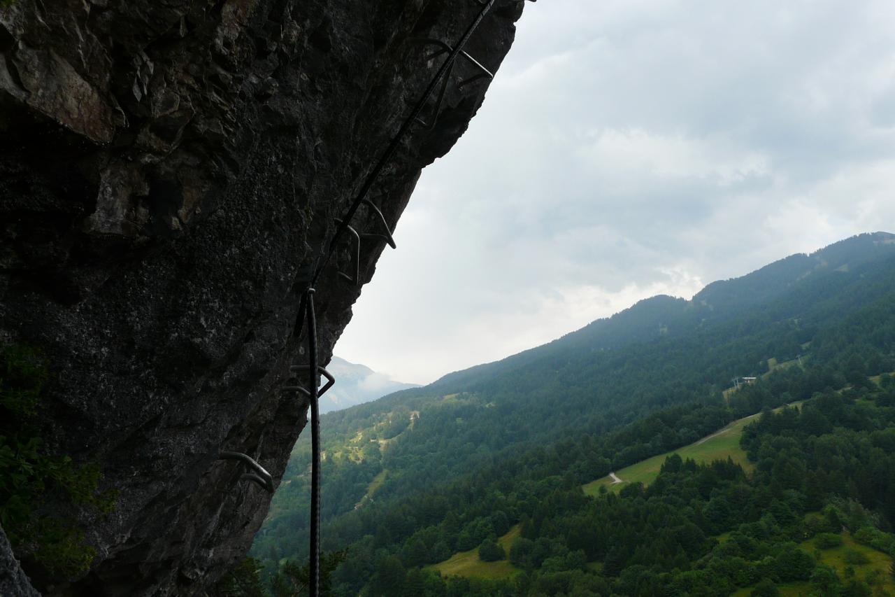 premier surplomb via athlétique de Rouas à Bardonecchia