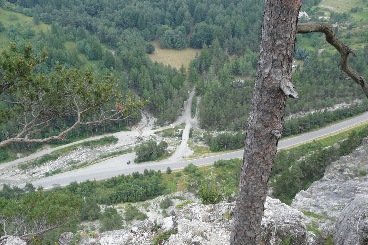 Sortie de la partie athlétique de la via del Rouas à Bardonecchia