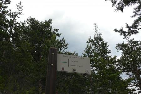 Pancarte chemin de retour via del Rouas