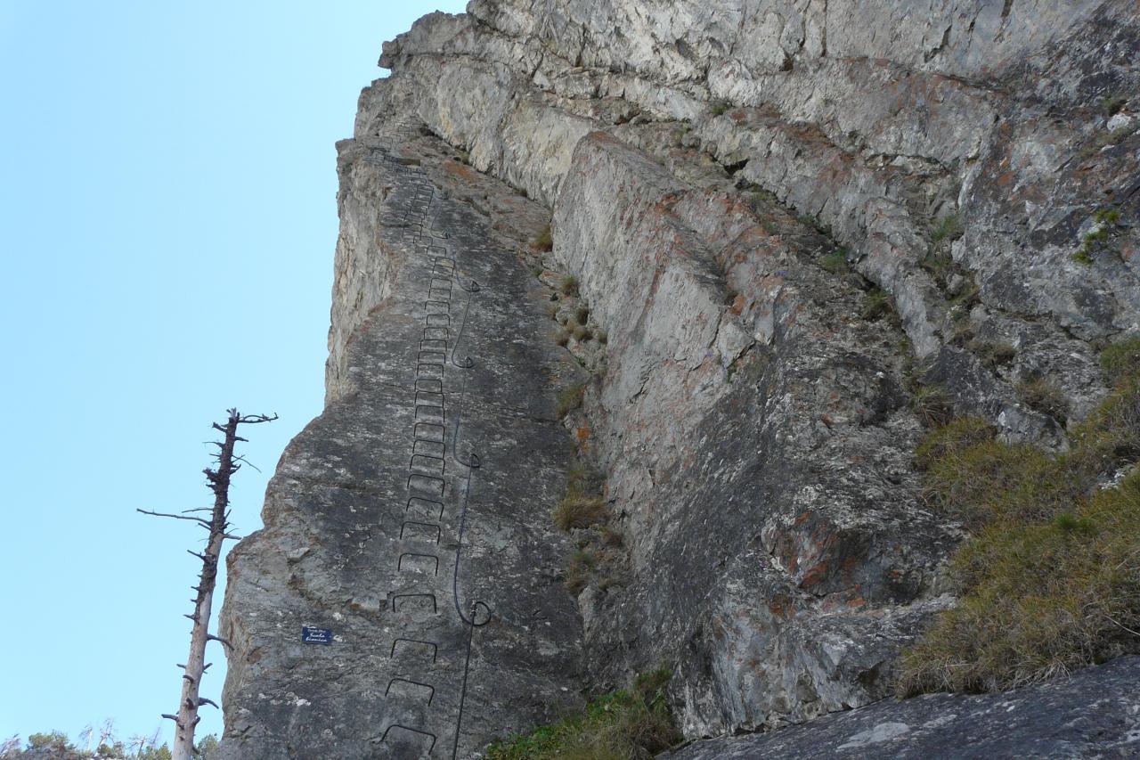 la partie la plus impressionnante de Rocca Clari à Clavière