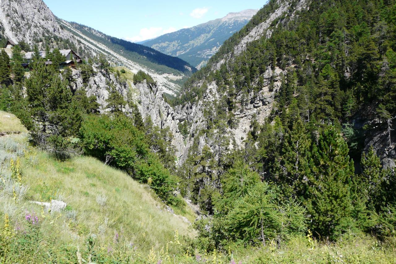 retour vers les gorges de san gervasio côté Clavière