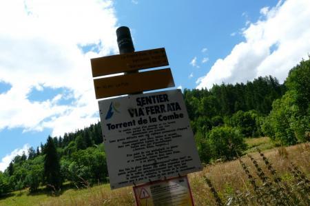 panneau d' info via du torrent de la combe