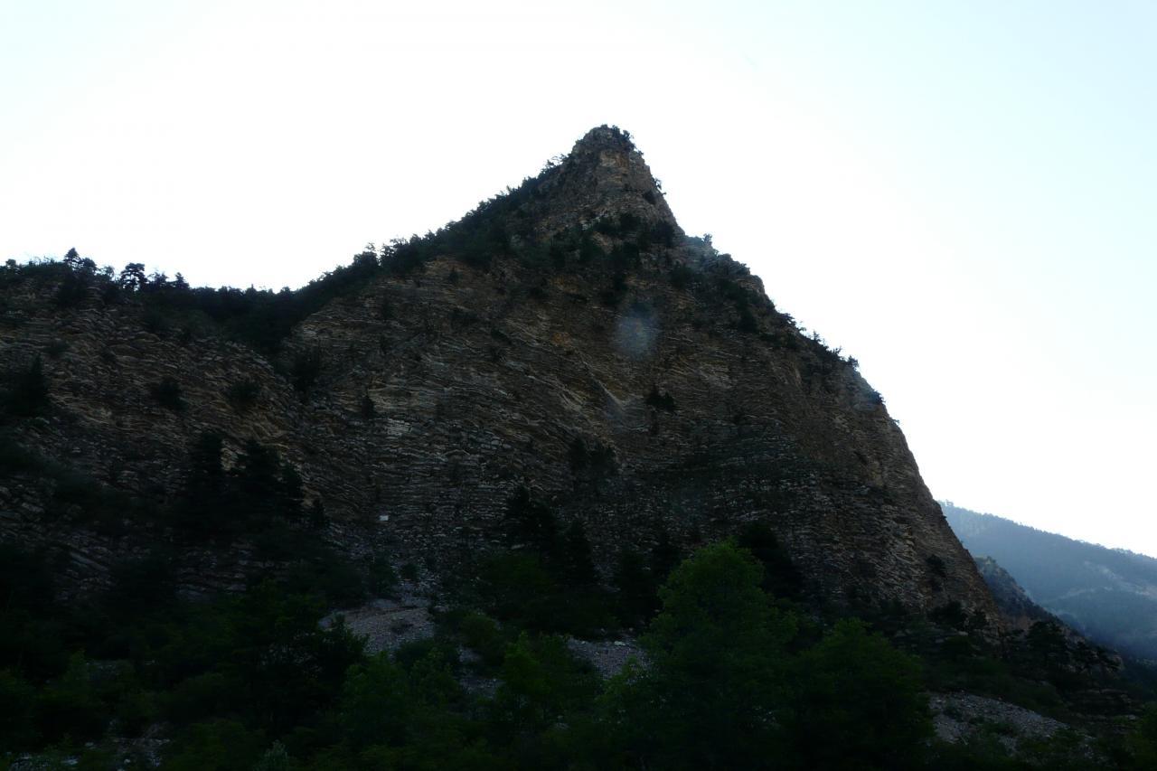 la falaise de Meïchira à Prads Haute Bléone