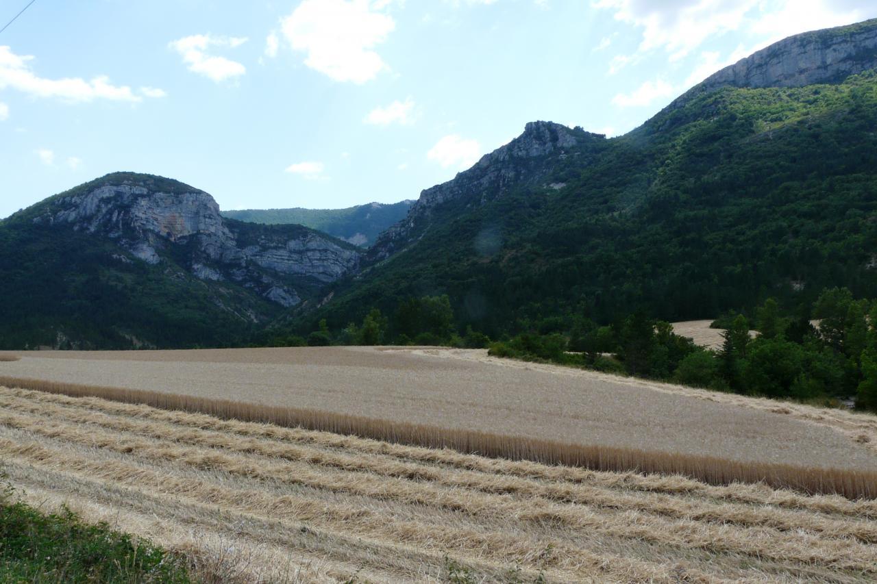 le travail agricole de la région dans le bas du col