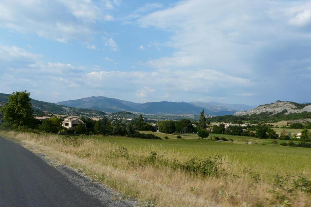 en direction de Sisteron, retour vers Noyers sur Jabron