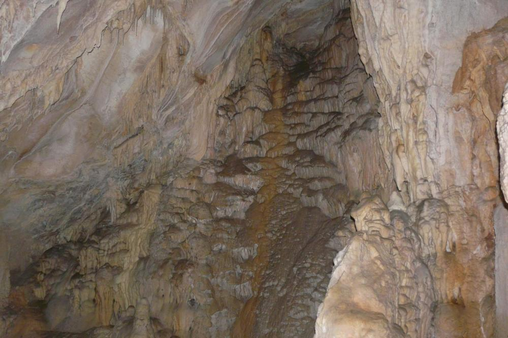 de splendides coulées ! (grotte de Pabro-Isére)