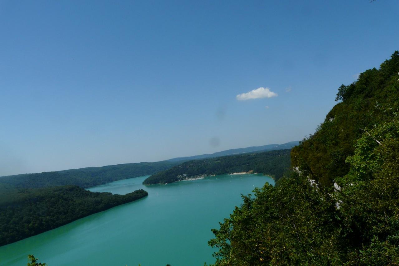belle vue sur le lac de Vouglans