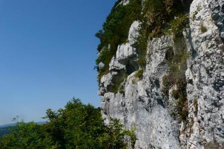 au loin une des échelles inversées de la via du Ragardoir
