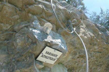 la partie difficile (variante) de la via de Moirans en Montagne