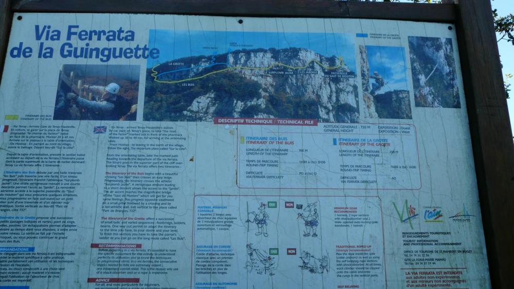 itinéraire via ferrata de la Guinguette à Hostias