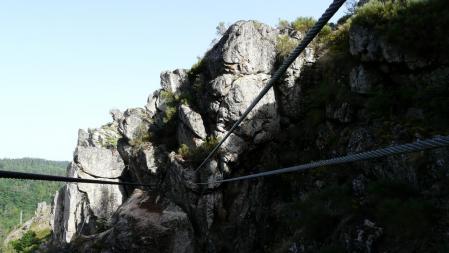 le pont thibetain de la via de Malzieu