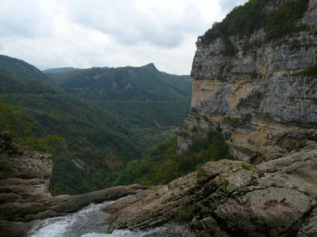le haut de la cascade de Charabotte