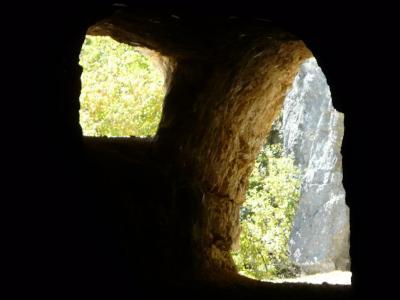 la fin du premier tunnel et sa lucarne !