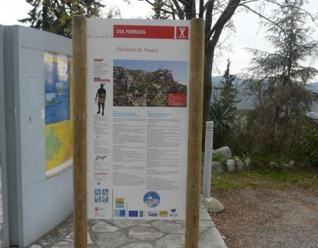 panneau officiel d'information de la via du Thaurac (janvier 2013)