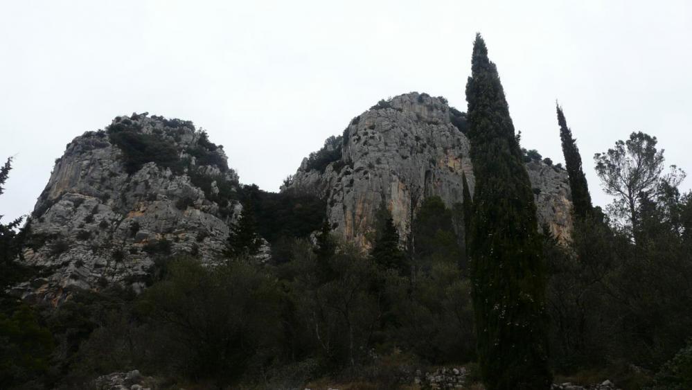 Site de la via ferrata du Thaurac (Hérault)