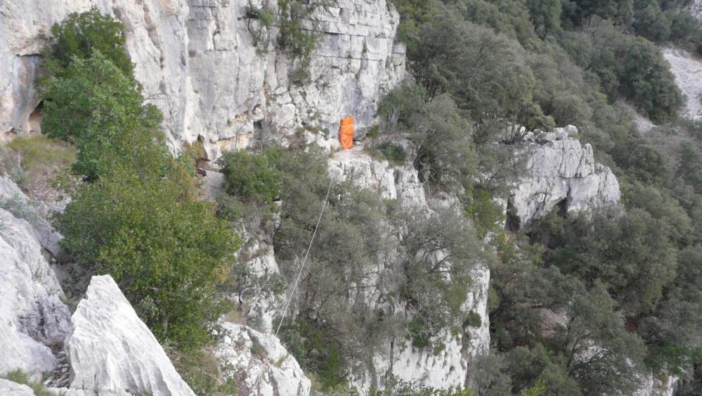 autre point de vue sur la tyrolienne du Thaurac