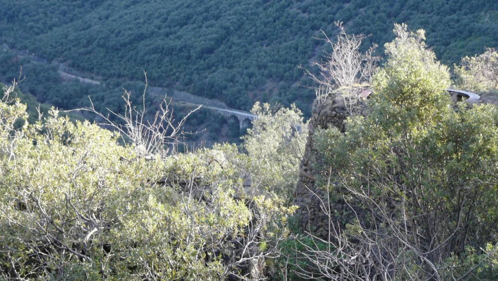 depuis les deux fours, vue sur la vallée du Rieutord