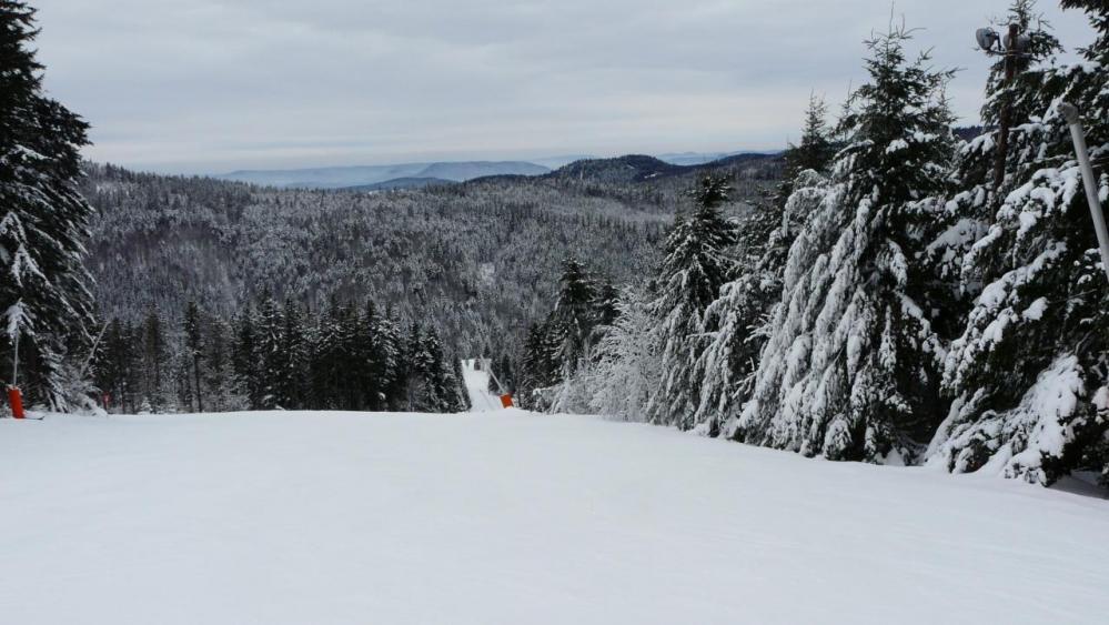 les pistes de ski du lac blanc (Vosges)