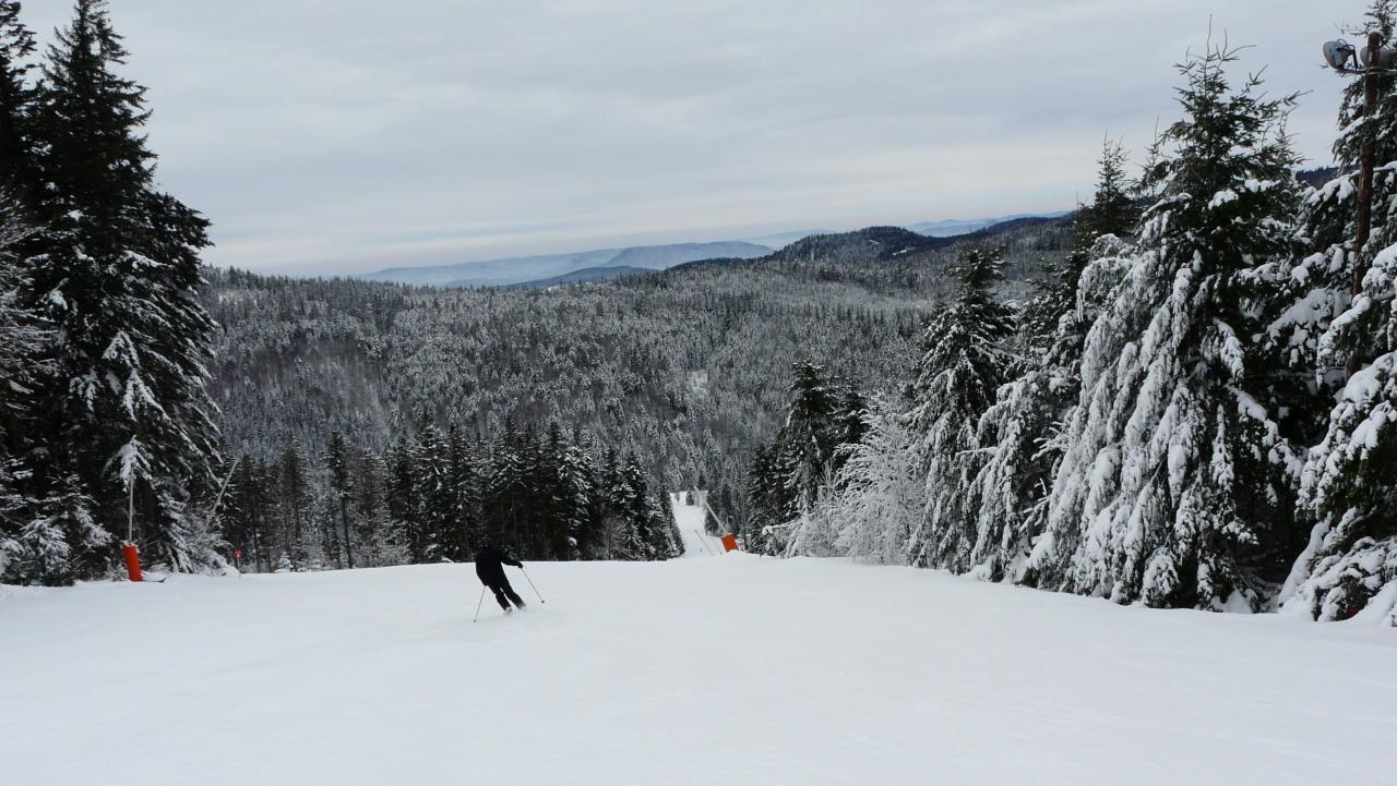 Ski de piste au lac Blanc