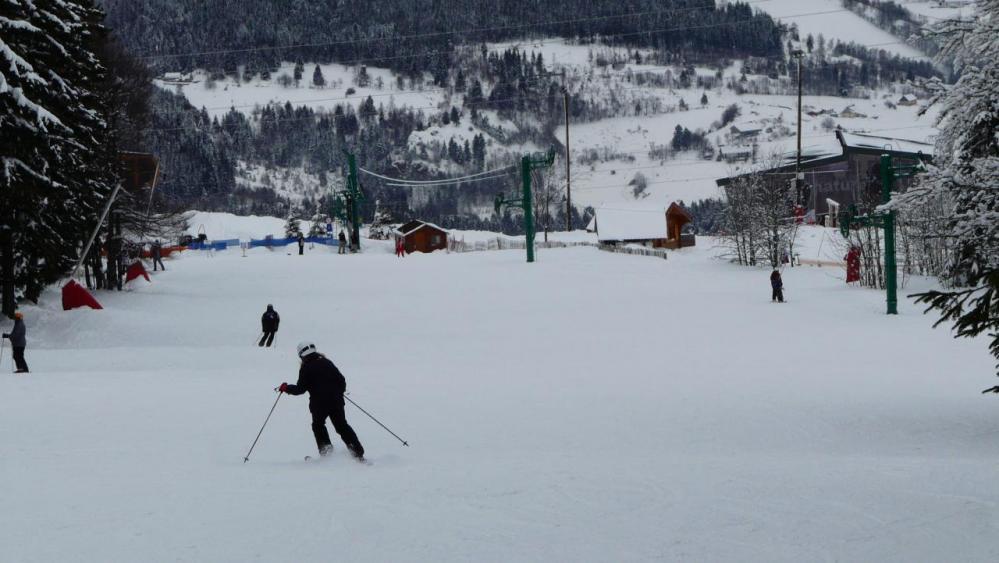 l' arrivée de la noire juste avant le télé ski
