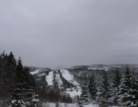 une partie des pistes du lac blanc vues d' en face