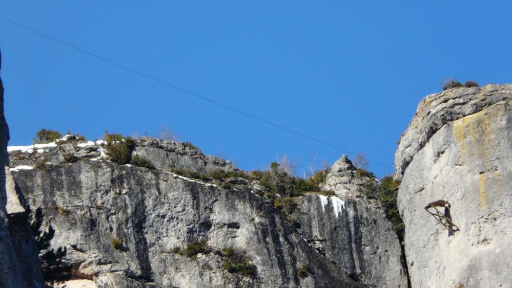 La tyrolienne vue du bas