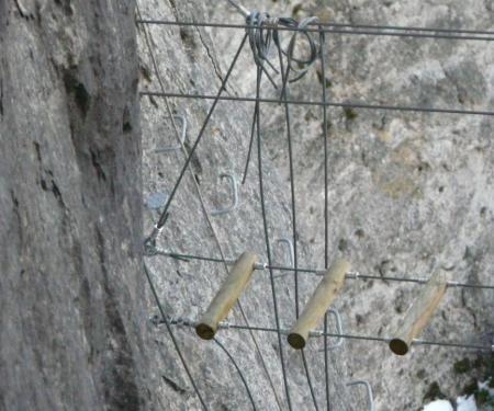petite passerelle en construction à Florac
