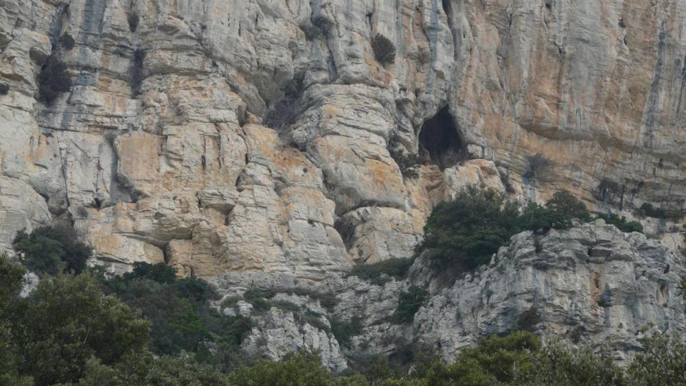 porche grotte à ne pas confondre avec la grotte de l' Hortus