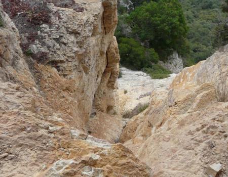 vue depuis la grotte vers le bas