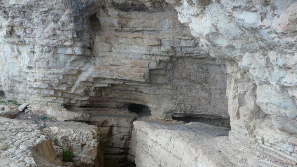 la grotte de l' Hortus (Hérault)