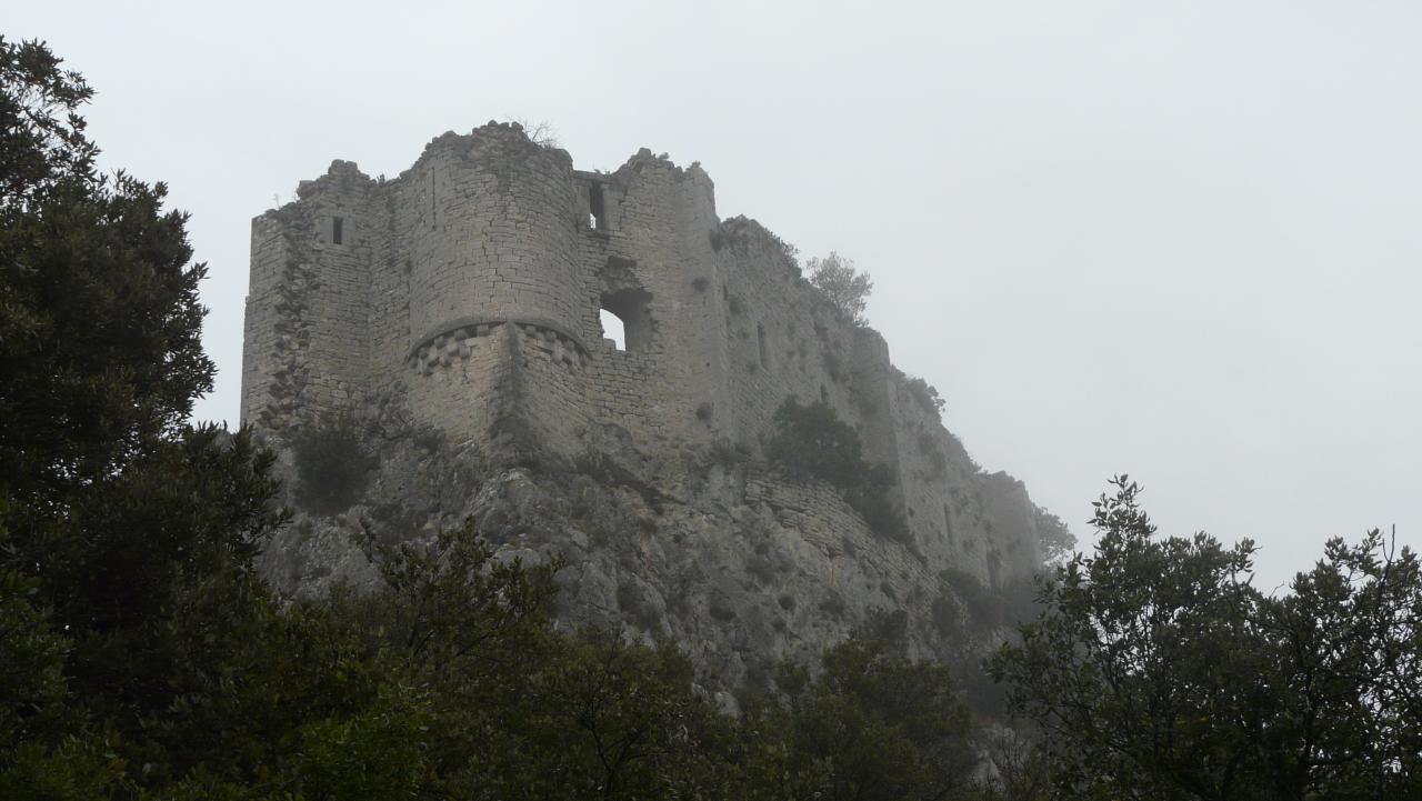 rando au chateau de Vivouriès