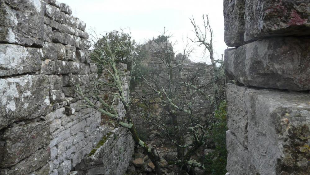 vue sur l' intérieur du château de Viviourès