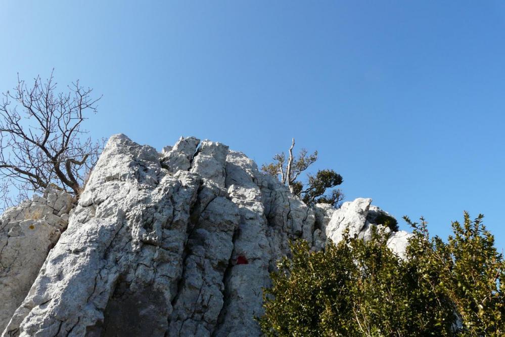 petits pas d'escalade - arête ouest pic st Loup