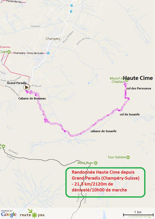 Randonnee haute cime depuis Grand Paradis Champery Suisse